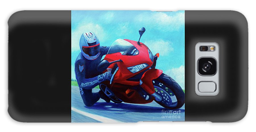 Motorcycle Galaxy S8 Case featuring the painting Sky Pilot - Honda Cbr600 by Brian Commerford