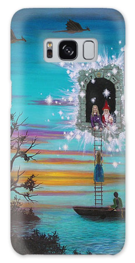 Fantasy Galaxy S8 Case featuring the painting Sky Window by Roz Eve