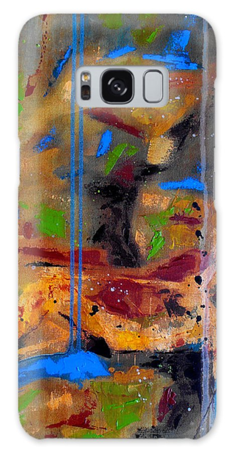 Abstract Galaxy Case featuring the painting Skyward by Ruth Palmer