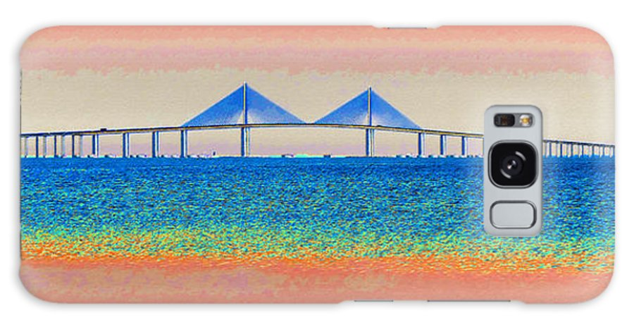 Art Galaxy S8 Case featuring the painting Skyway Morning by David Lee Thompson