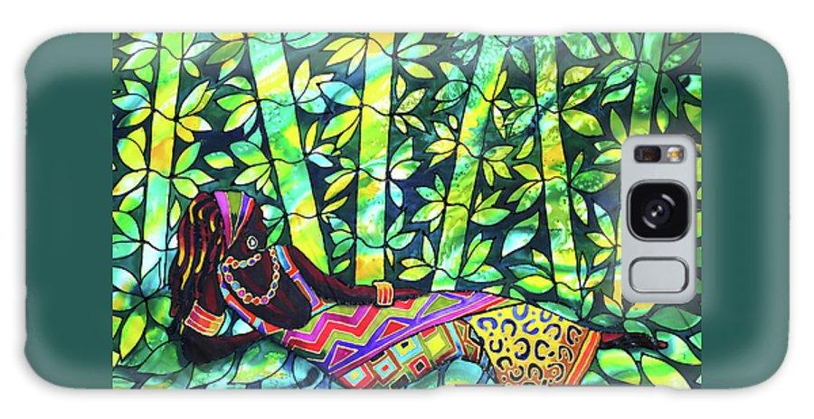 Belize Galaxy S8 Case featuring the painting Sleep To Dream Silkpainting Belize by Lee Vanderwalker