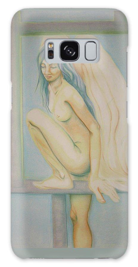 Angel Galaxy S8 Case featuring the drawing Sleeping Angel by Begonha True