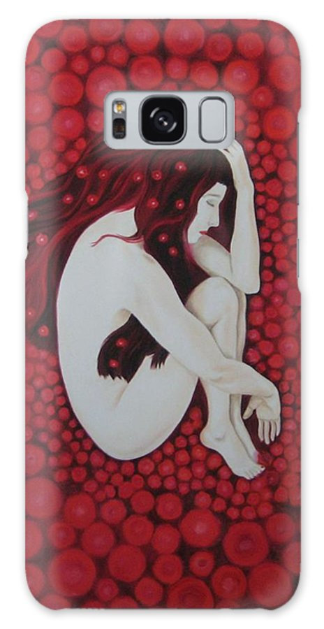 Female Galaxy Case featuring the painting Sleeping Beauty by Jindra Noewi