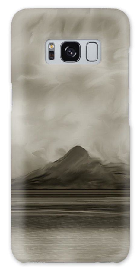 Wyoming Galaxy Case featuring the painting Sleeping Giant And Beck Lake by Anne Norskog
