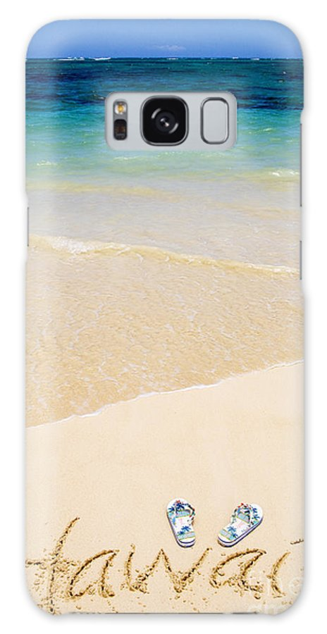 Beach Galaxy S8 Case featuring the photograph Slippers In The Sand by Tomas del Amo - Printscapes