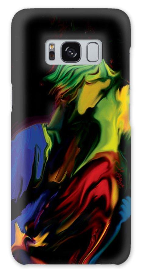 Black Galaxy Case featuring the digital art Slow Dance by Rabi Khan