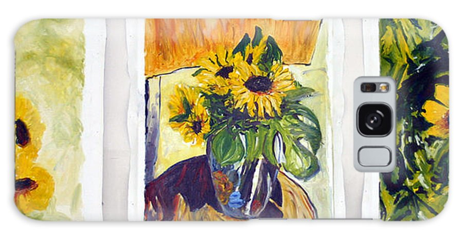 Landscape Galaxy S8 Case featuring the painting Slunecny-triptych by Pablo de Choros