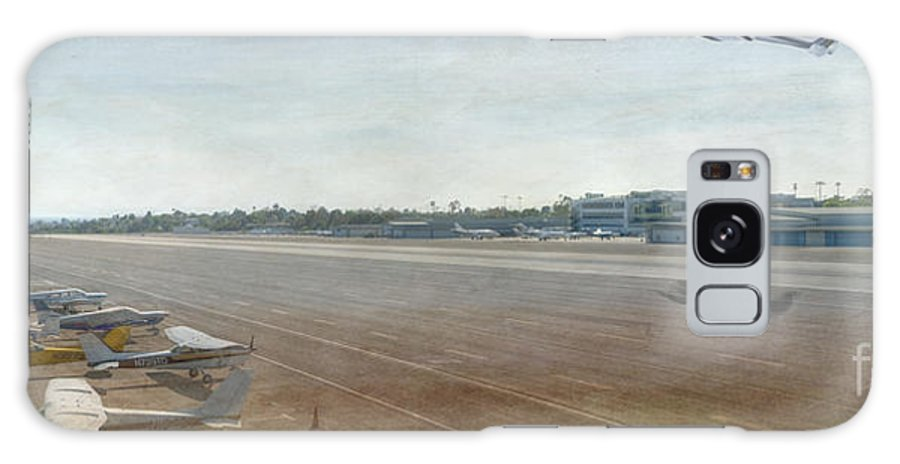 City Airport Galaxy S8 Case featuring the photograph Small City Airport Plane Taking Off Runway by David Zanzinger