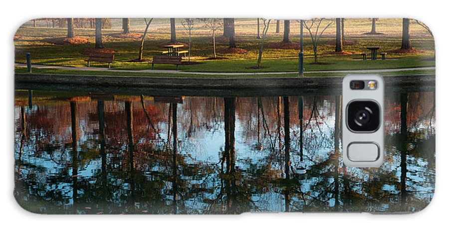 Fall Galaxy S8 Case featuring the photograph Small Urban Park by Steve Wile