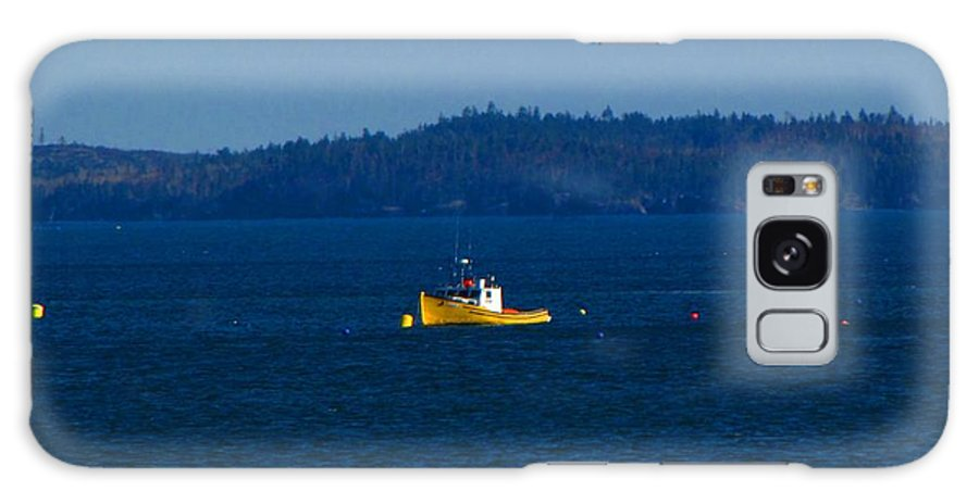 Boat Galaxy S8 Case featuring the photograph Small Yellow Boat by Melissa Parks