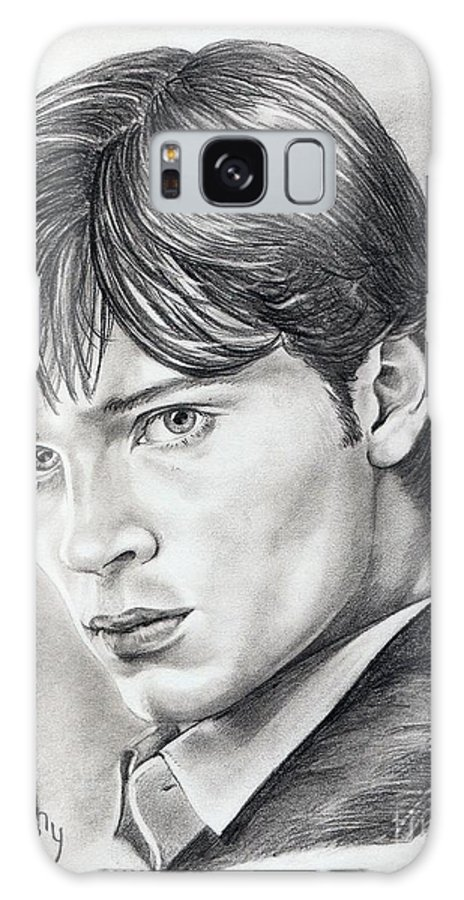 Superman Galaxy S8 Case featuring the drawing Smallville Tom Welling by Murphy Elliott