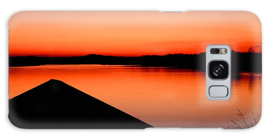 Sunset Galaxy S8 Case featuring the photograph Smith Mountain Sunset by Jean Macaluso