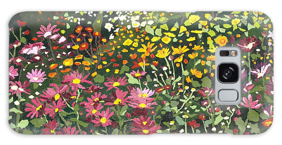 Floral Galaxy Case featuring the painting Smith Mums by Leah Tomaino