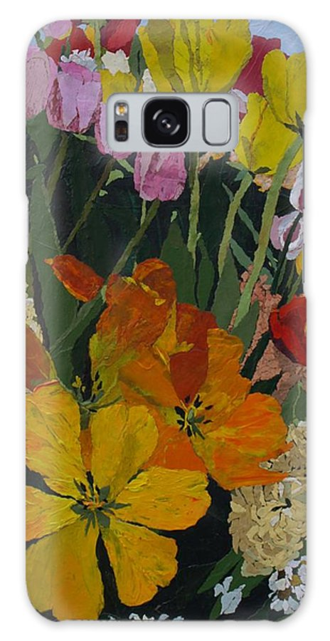 Floral Galaxy Case featuring the painting Smith's Bulb Show by Leah Tomaino