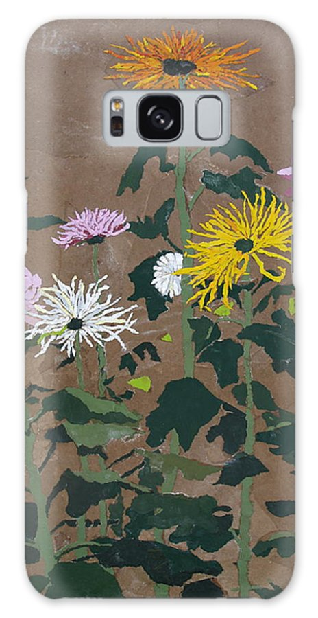 Collage Galaxy Case featuring the painting Smith's Giant Chrysanthemums by Leah Tomaino