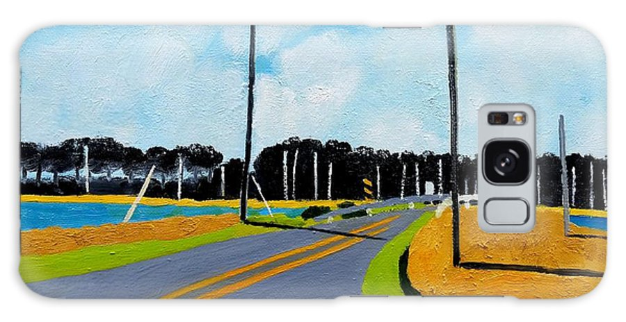 Chesapeake Galaxy S8 Case featuring the painting Smithville Boat Ramp by Lesley Giles