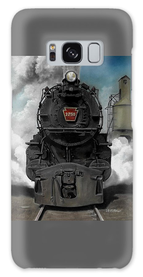 Trains Galaxy S8 Case featuring the painting Smoke And Steam by David Mittner
