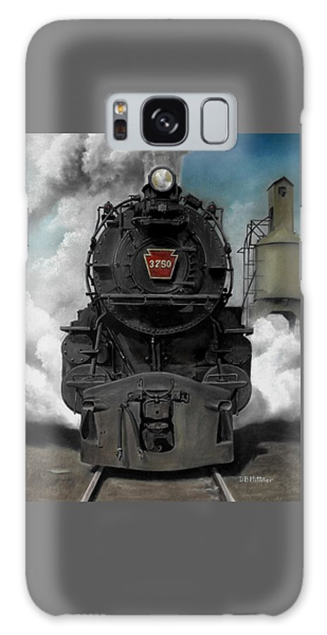 Trains Galaxy Case featuring the painting Smoke And Steam by David Mittner