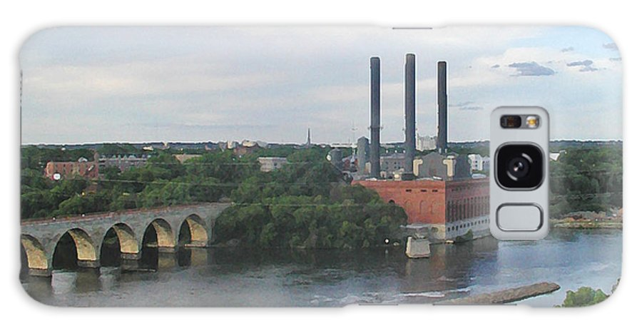 Minneapolis Galaxy Case featuring the photograph Smokestacks On The Mississippi by Tom Reynen