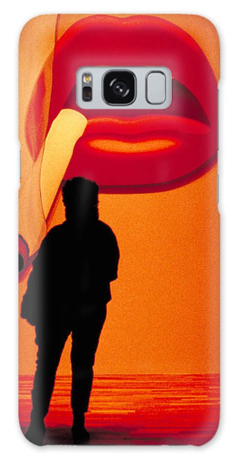 Smoke Galaxy S8 Case featuring the photograph Smoking Lips by Carl Purcell