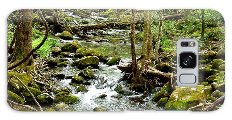 Smoky Mountains Galaxy Case featuring the photograph Smoky Mountain Stream 1 by Nancy Mueller