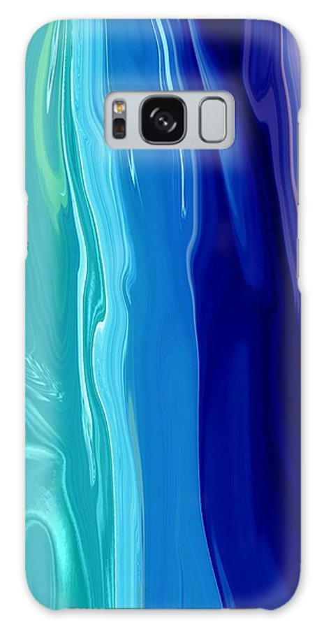 Abstract Galaxy S8 Case featuring the digital art Smooth Moves by Florene Welebny