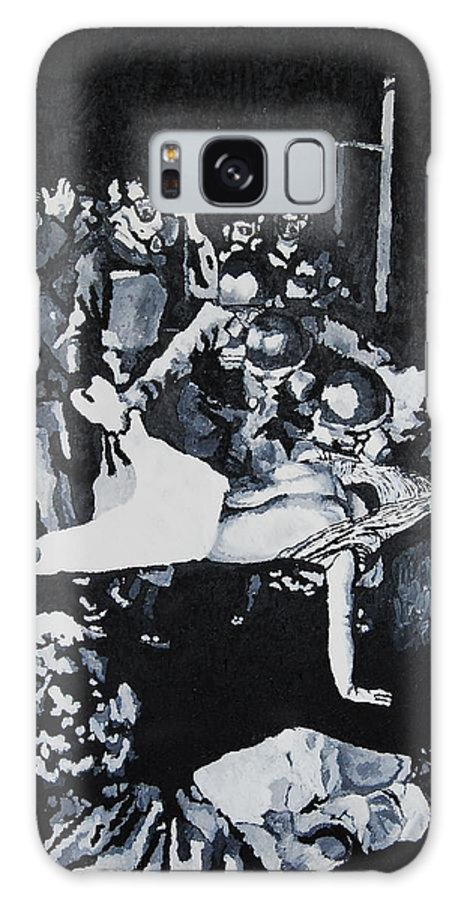 Civil Rights Galaxy Case featuring the painting Sncc Photographer Is Arrested By National Guard by Lauren Luna