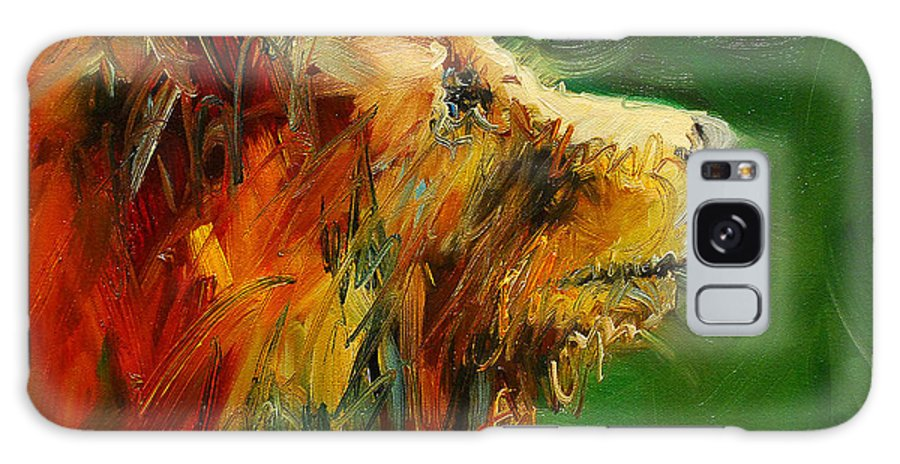 Bear Galaxy S8 Case featuring the painting Sniffing For Food Bear by Diane Whitehead
