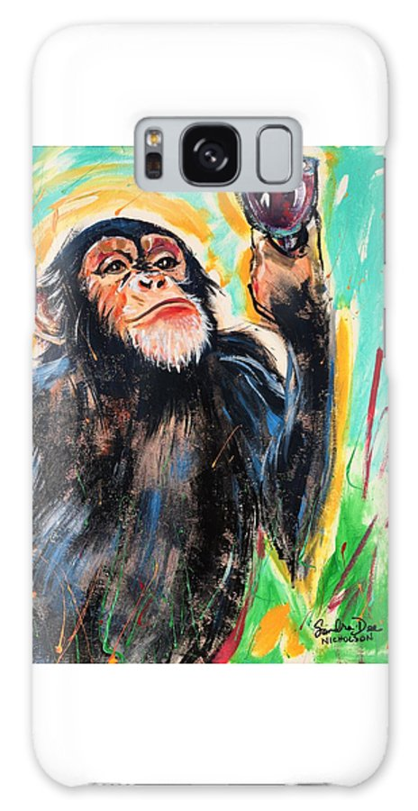 Wine Galaxy S8 Case featuring the painting Snooty Monkey by Sandra Dee