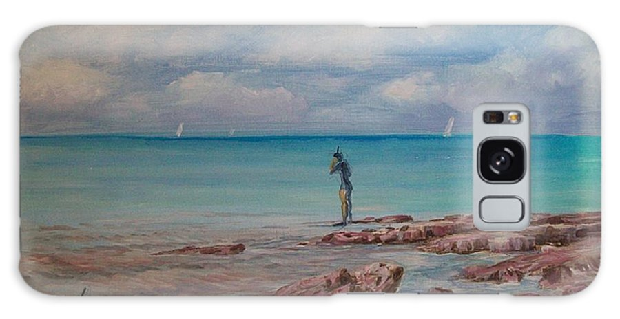 Seascape Galaxy S8 Case featuring the painting Snorkling In Aruba by Perrys Fine Art