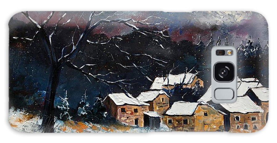 Snow Galaxy Case featuring the painting Snow 57 by Pol Ledent