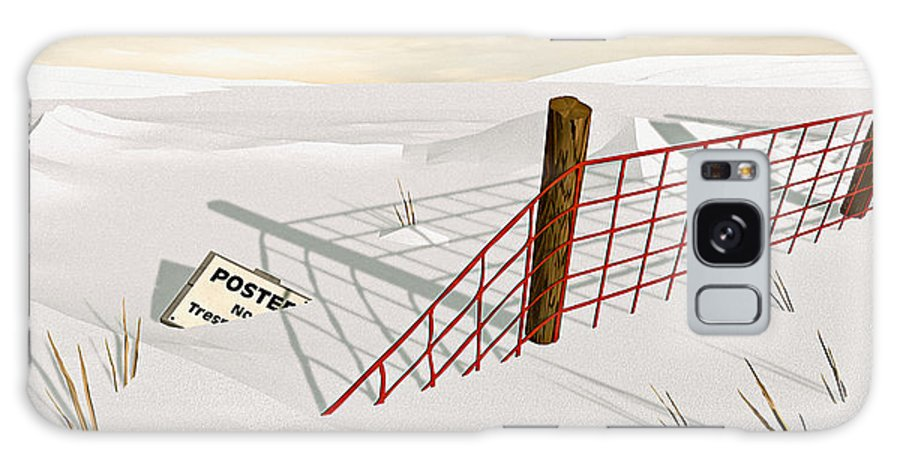 Snow Galaxy Case featuring the painting Snow Fence by Peter J Sucy