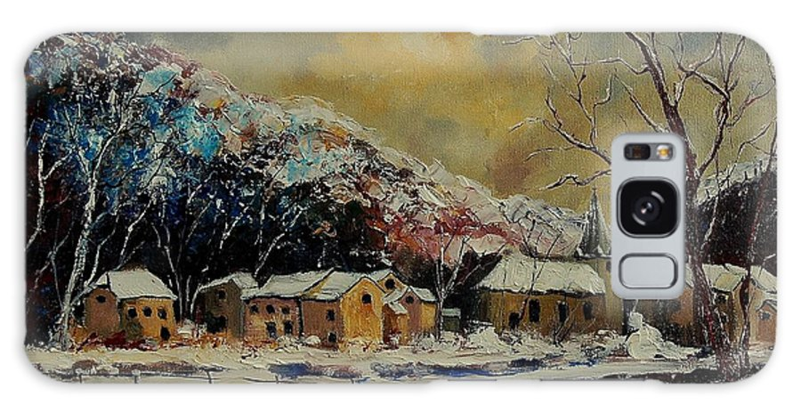 Winter Galaxy S8 Case featuring the painting Snow In Bohan by Pol Ledent