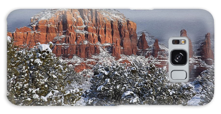 Sedona Galaxy S8 Case featuring the photograph Snow In Sedona 2 by Donna Kennedy