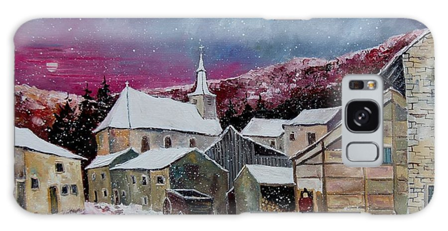 Snow Galaxy S8 Case featuring the painting Snow Is Falling by Pol Ledent