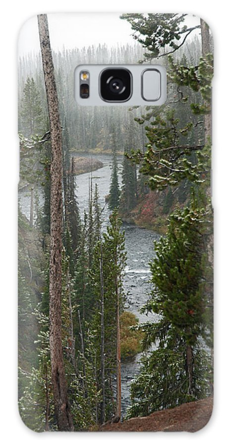 Snow Galaxy S8 Case featuring the photograph Snow On The Yellowstone River by Gary Langley