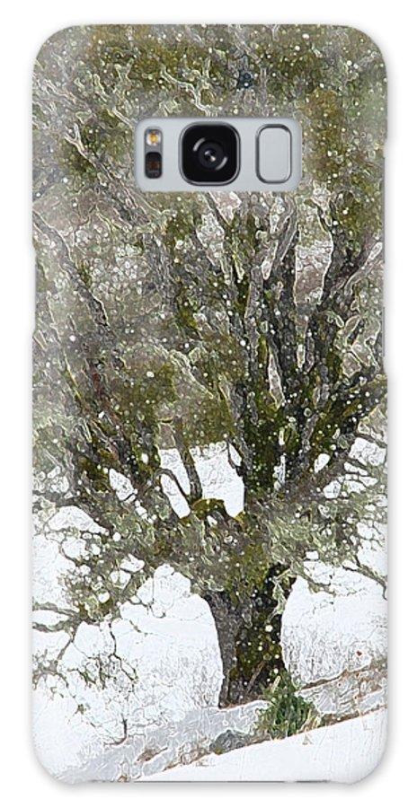 Tree Galaxy S8 Case featuring the photograph Snow Tree by Carol Eliassen