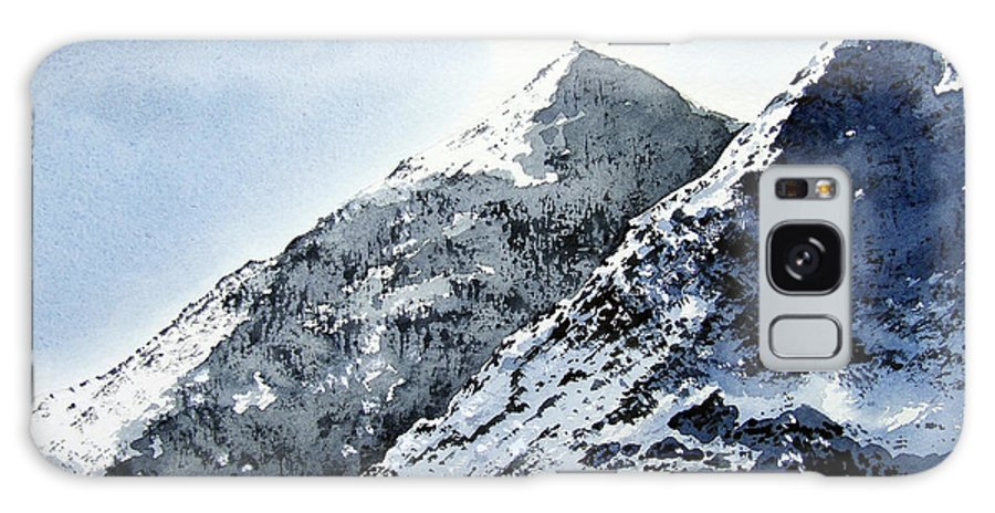 Snowdon Galaxy Case featuring the painting Snowdon by Paul Dene Marlor