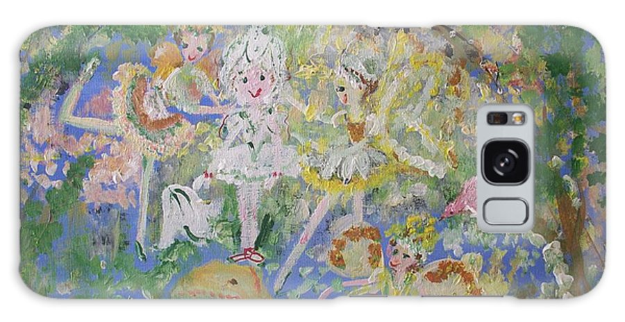 Snowdrop Galaxy S8 Case featuring the painting Snowdrop The Fairy And Friends by Judith Desrosiers