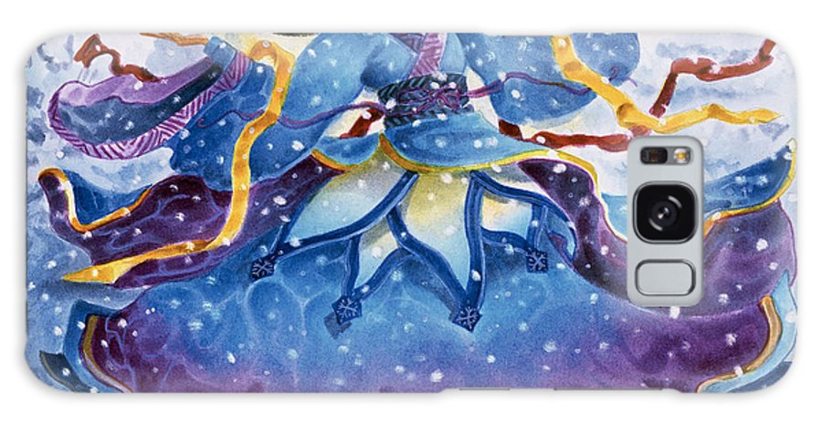 Snow Galaxy S8 Case featuring the painting Snowfall by Melissa A Benson