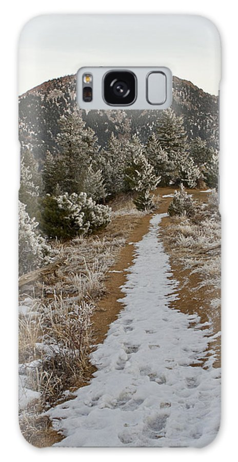 Colorado Galaxy S8 Case featuring the photograph Snowy Colorado Trail by Sandy Swanson