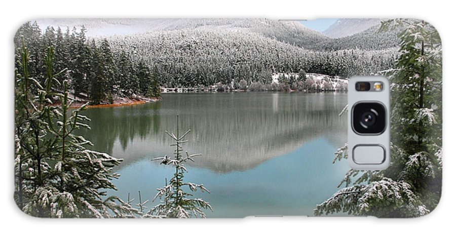 Green Lake Galaxy S8 Case featuring the photograph Snowy Green Lake Sunset Whistler B.c Canada by Pierre Leclerc Photography