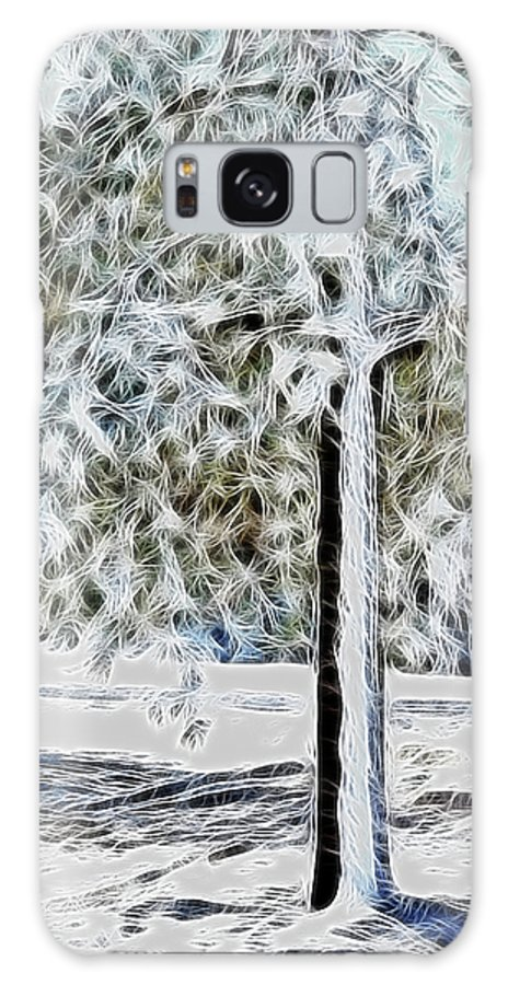 Snow Prints Galaxy S8 Case featuring the photograph Snowy Tree by Lisa Stanley