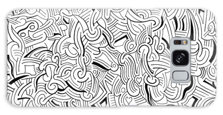Abstract Galaxy S8 Case featuring the drawing So Close Yet So Far by Steven Natanson