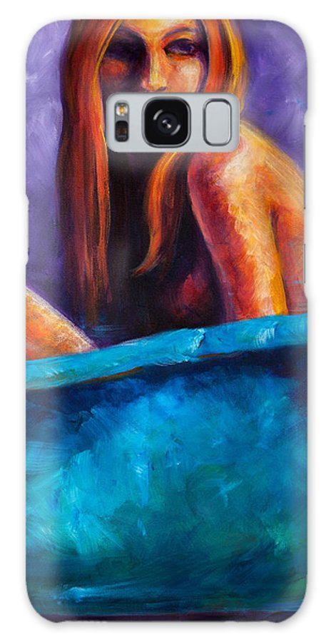 Nude Galaxy Case featuring the painting Soak by Jason Reinhardt