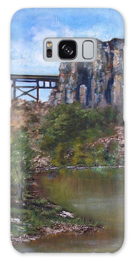 Landscape Galaxy S8 Case featuring the painting S.o.b Caynon by Darla Joy Johnson
