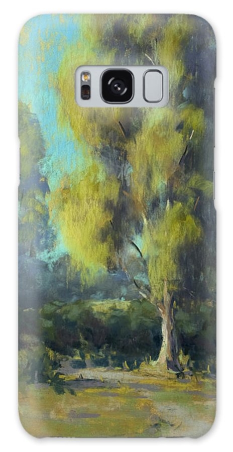 Landscape Galaxy S8 Case featuring the painting Softly Lit Afternoon by Timon Sloane