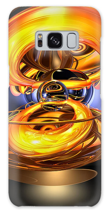3d Galaxy S8 Case featuring the digital art Solar Flare Abstract by Alexander Butler