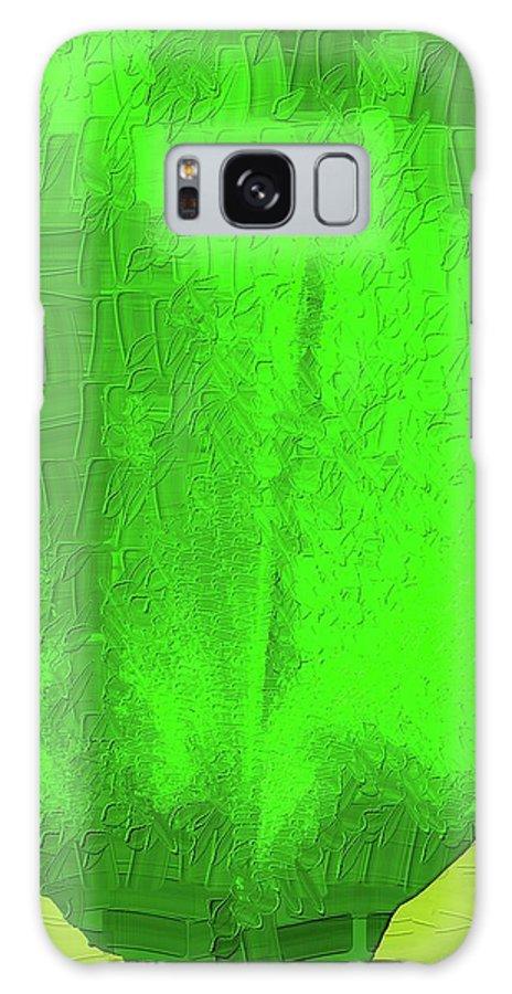 Green Galaxy S8 Case featuring the digital art Solar Green by Roxy Hurtubise