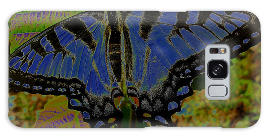 Solarized Butterfly Galaxy S8 Case featuring the photograph Solarized Butterfly by Debra   Vatalaro